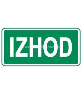 EVACUATION PLATE IZHOD