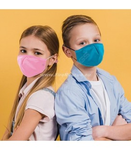PROTECTIVE MASK WITH FILTER FOR CHILDREN - AZUR BLUE